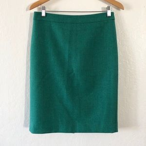 •J. Crew No. 2 Wool Pencil Skirt•